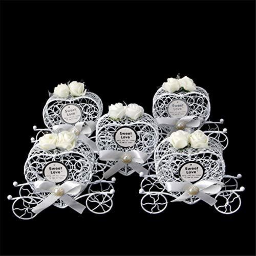 Cuigu 5 Stück Pralinenschachtel, Cinderella Kutsche Form Süßigkeitskästen für Geburtstag Hochzeit (No.3)