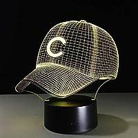 3DイリュージョンLedナイトライトノベルティランプハット野球CヘルメットキャップLedランプスポーツクラブチームロゴUSBギフトボーイおもちゃ