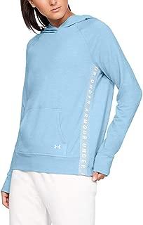 Under Armour Women's Featherweight Fleece Hoody HOODIES, Grey (Coded Blue/onyx White/tonal), X-Small