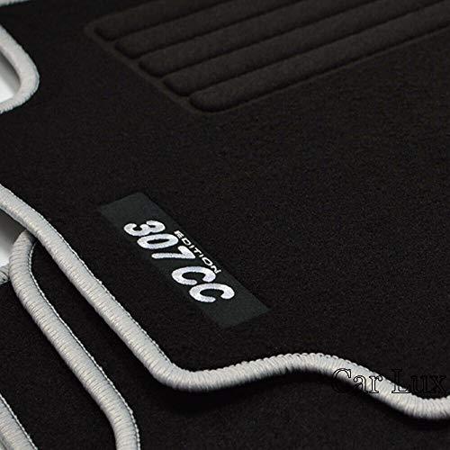 Car Lux AR15901 - Peugeot 307 CC Alfombras a Medida Alfombrillas Edition Velour Personalizadas para 307CC Desde 2001-