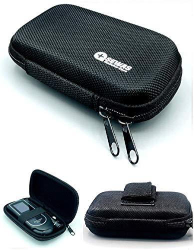 Tasche Hardcase für Akku Chek Mobile, Gürteltasche Blutzuckermessgerät, Diabetikertasche Schwarz
