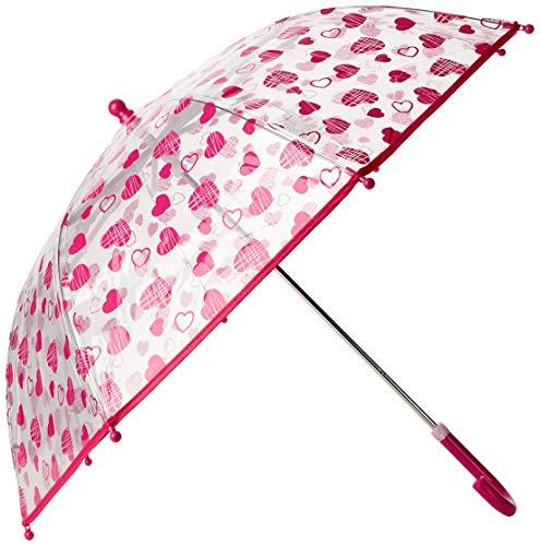 Playshoes Mädchen Herzchen Regenschirm, Transparent, One Size