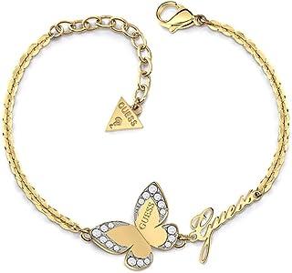 Guess Womens Stainless Steel Fashion Bracelet - UBB78050-L, Color Gold, Size L