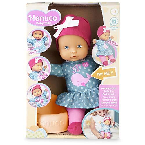 Nenuco-Baby Talks, Hacemos pipí! Muñeca con Sonidos para niñas y niños a Partir de 1 año(Famosa 700016281)