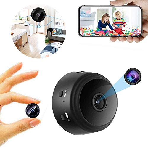 1080P HD Hot Link Remote Surveillance Camera Recorder, 150 ° Wide Angle Mini Spy Hidden Camera with Night Vision and Motion Detection For Home/Office/Garage