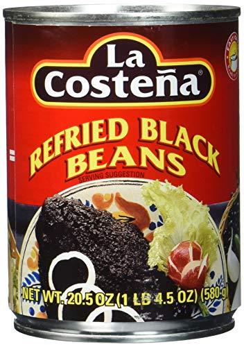 La Costena Bohnenmus schwarz | 580g | Mexikainsche Küche | Reich an Eisen, Ballastsoffen und Proteinen | Passt zu einer Vielzahl von Gerichten | Hervorragender Geschmack