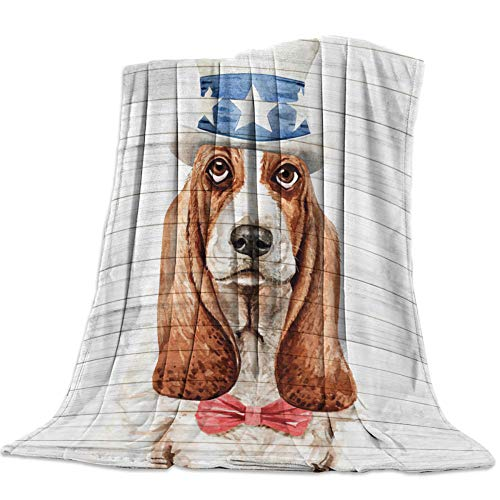 Kpdar Flannel Blanket 3D Printed blankets Soft Warm Flannel Fleece Throw Blanket for Bed Couch Camping and Travel—Beagle Head Pet Dog Board Watercolor 180x220 cm