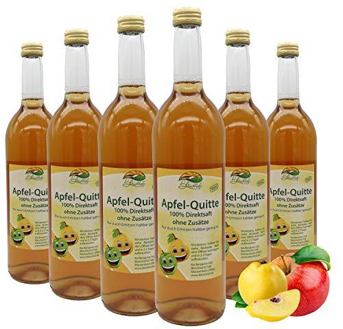 Bleichhof Apfel-Quitten Saft - 100% Direktsaft, naturrein und vegan, OHNE Zuckerzusatz, 6er Pack (6x 0,72l)