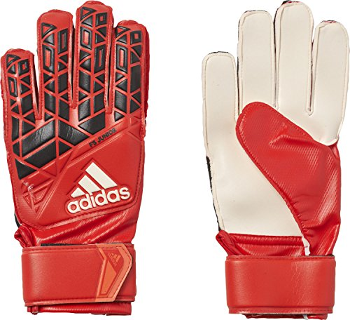 adidas Kinder ACE Fingersave Junior Torwarthandschuhe, Red/Core Black/White, 4