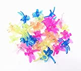 HONBAY 30pcs Colorful Dragonfly Orchid Clips, Garden Support Plant Clips Flower Clips