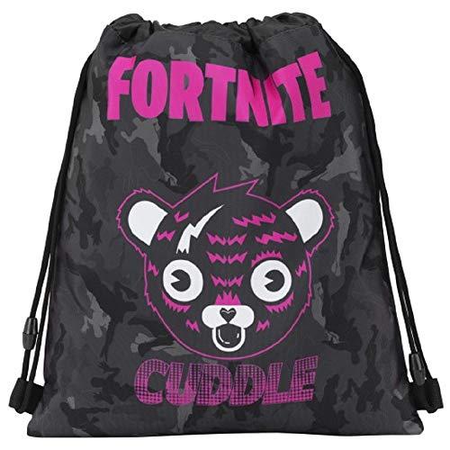 Bolsa Compatible con Fortnite Cuddle, Mochila, Bolsa de Gimnasio, Escuela, 41 x 33 cm, Producto Oficial