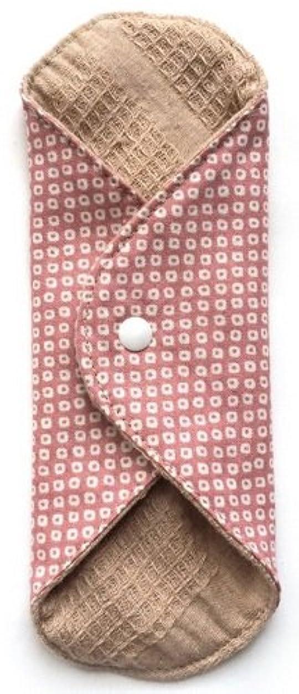 ライオネルグリーンストリートお手入れ抹消華布 オーガニックコットンのあたため布 Mサイズ(約15×約15cm) 鹿の子柄(桃)