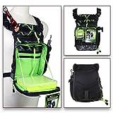 QualyQualy - Riñonera de pesca, con bolsa para caña de pescar y bolsa de almacenamiento para aparejos de pesca, diseño de camuflaje