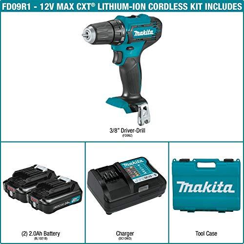 Makita FD09R1 12V max CXT Lithium-Ion Cordless 3/8