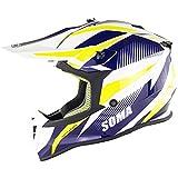 FANGJIA-Helmet Casco MX Caschi da Corsa, Casco MTB Integrale, ECE Approvato Leggero Casco di Sicurezza Casco Moto Cross, per Enduro off Road ATV Downhill(Dimensioni: 55-64 cm)