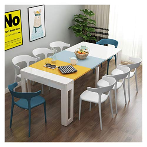 Soporte Portátil Mobile mesa plegable de varias viviendas de mesa plegable de comedor, mesa móvil de ocho plazas y silla, mesa plegable multifuncional, Nordic hogar a prueba de agua de mesa de comedor