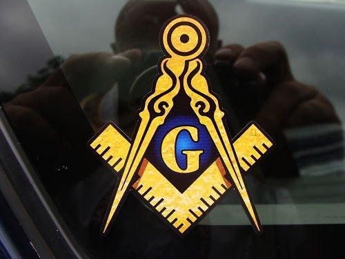 ProSticker 004 (One) 4' Masonic Series Freemason Compass Square Decal Sticker