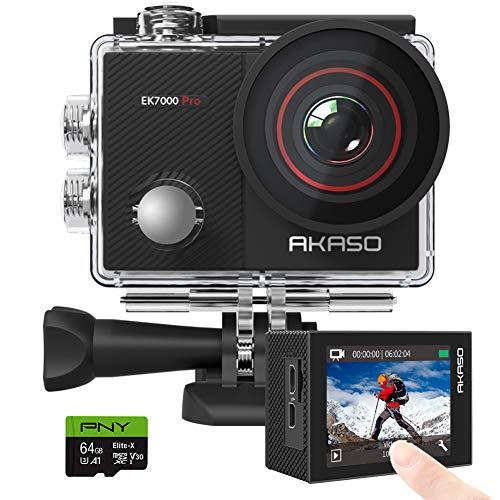 AKASO EK7000 Pro 4K Action Camera + PNY Elite-X 64GB U3...
