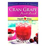 Healthwise - Cran Grape Diet Fruit Drink   Healthy Protein Drink, Appetite Suppressant   High Protein, Fat Free, Low Carb, Low Calorie, Sugar Free (7/Box)