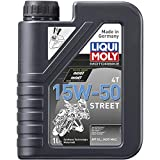 LIQUI MOLY 2555 Motorbike 15W-50 4T Street Synthetic Technology Engine Oil (1 Litre)