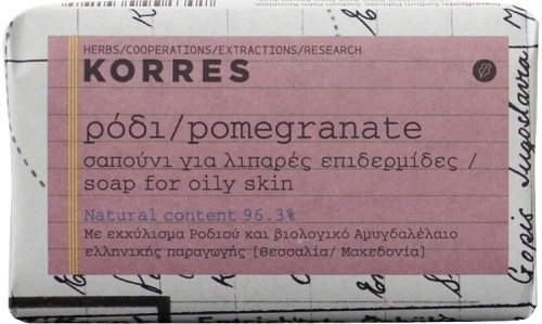 Korres Pomegranate Soap, for Oily Skin, 1x125g by Globalbeauty
