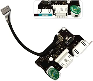 COHK Replacement DC I/O Power Audio Board Charging Port Connector Flex Cable Compatible with MacBook Air 13 inch A1466 923-0439 820-3455-A (Mid 2013, Early 2014, Early 2015)