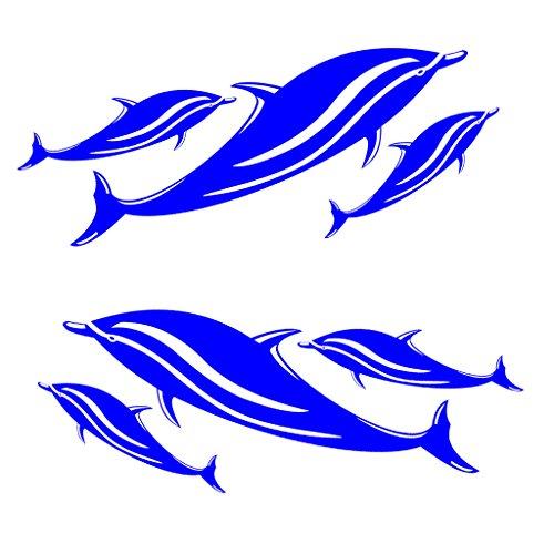 MagiDeal 2 Pezzi Decalcomanie Vinile Decal Stickers per Kayak Canoe Pesca Barca da Pesca