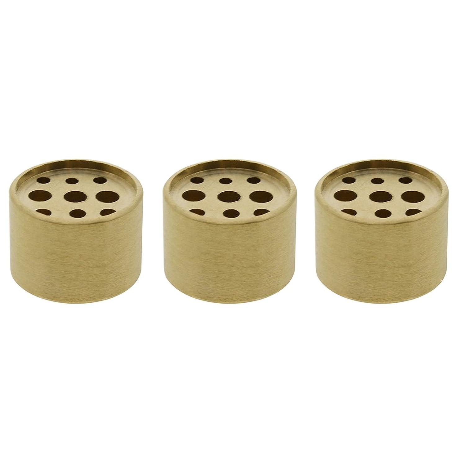 ハドル引数アンタゴニストSaim 3個Fine銅円柱形状Incenseホルダー9穴真鍮LotusスティックBurner for Incense