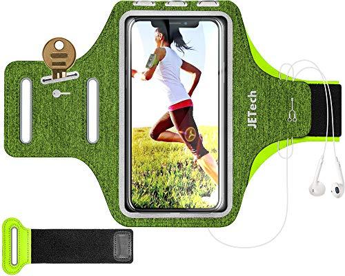 JETech Brazalete Deportivo Compatible iPhone SE(2020)/11/11 Pro/XR/XS/X/8 Plus/7 Plus/8/7, Galaxy S10/S9/S9+,Correa Ajustable,...