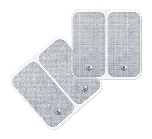 Beurer 661.01 - Set de recambio de 4 electrodos (5 x 10 cm) TENS/EMSpara los electroestimuladores de Beurer EM-49 / EM-80/ EM- 41 / EM-40
