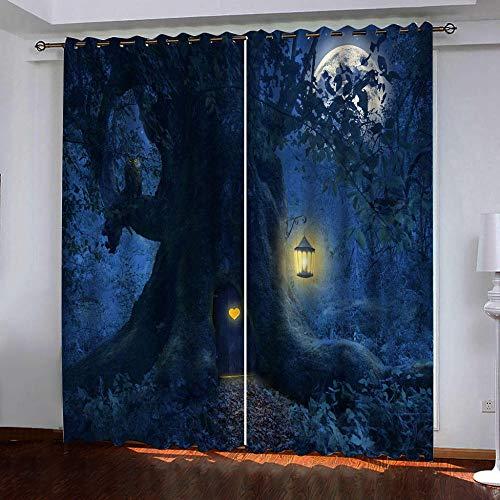cortinas habitacion opacas 2 piezas grandes dimensiones