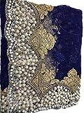 Pakistani Designer Heavy Net diamond Sari...