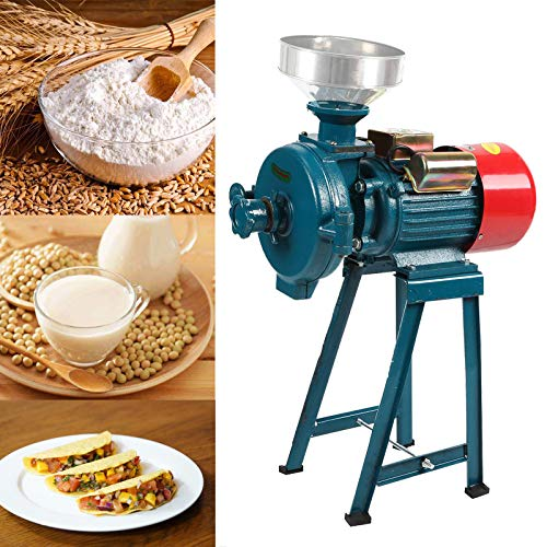 BEAMNOVA 2200W Grain Mill Molino de Maiz Electric Dry Wet Food Grinder for Tacos Corn Flour Rice Nut Commercial Industrial Grinding Machine (Dark Green)