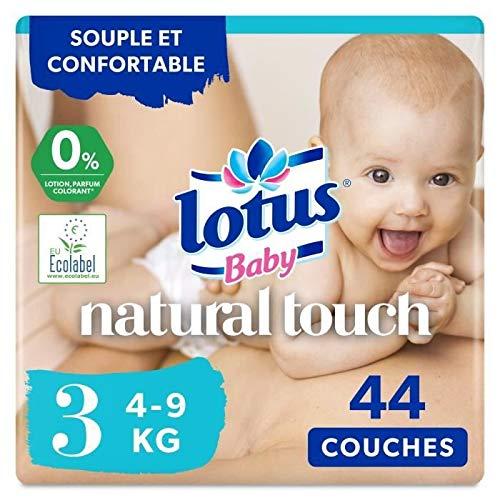 Lotus Baby Couches Touch, taille 3 : 4-9 kg - Le paquet de 44
