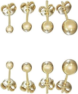 Himbeer Ohrstecker aus 585 Gold Gelbgold Kugel 6mm Ohrringe Ohrschmuck Damen