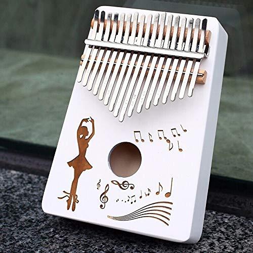 Yamyannie Finger Daumen Klavier Pine Anfänger Finger Piano Mit Tune Hammer Aufbewahrungstasche Phonetic Alphabet 17 Keys for Kinder Erwachsene (Farbe : Weiß, Größe : Einheitsgröße)