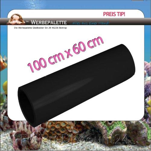 Die Werbepalette (EUR 7,42 / Quadratmeter) Rückwandfolie Aquarium Folie Terrarium Schwarz 100 cm x60 cm TOP ! Preistip !