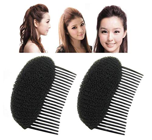 Pack of 2 Hair Styling Clip Stick Bun Maker Braid Tool Hair Accessories Charming Bump It Up Volume Inserts Do Beehive Hair Styler Hair Comb DIY Hair Beauty Tool