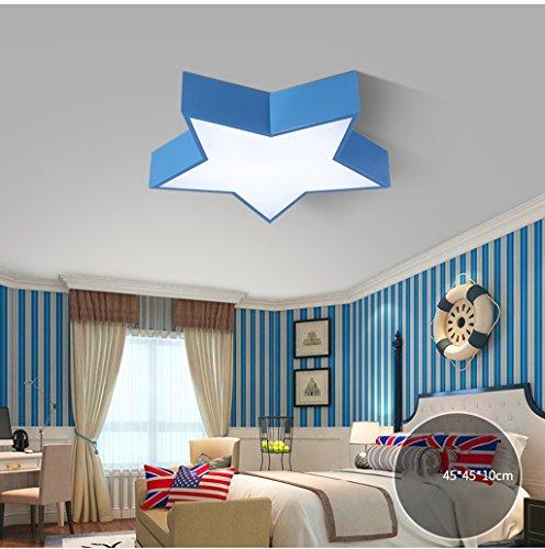 Lily's-uk Love Star enfant lumière créative garçon chambre à coucher lampe personnalité conduit maternelle dessin animé salle de plafond lumière - bleu