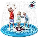 Jasonwell 噴水マット 170cm サメ 噴水 家庭用プール 噴水池 親子 水遊び おもちゃ 男の子 女の子 夏対策 芝生遊び お庭プール こども 誕生日プレゼント パーティー 学園祭 お祭り
