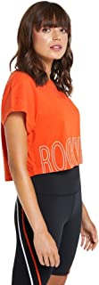 Rockwear Activewear Women's Velocity Giant Logo Tee from Size 4-18 for T-Shirt Tops