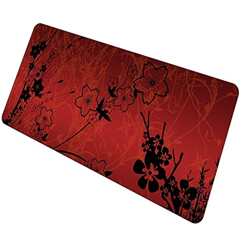 Grandes Alfombrilla de Ratón Flor Roja Alfombrilla para Ratón Xl Speed Tablet...