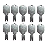 Mover Parts (10) Forklift Key for Clark Yale Hyster Komatsu Gradall Gehl Crown & More 166 186304