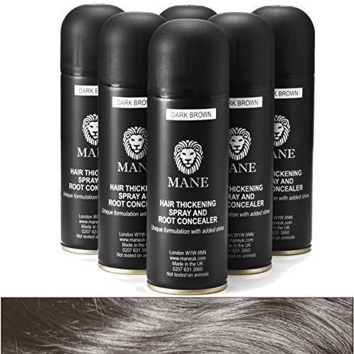 Mane Hair Thickening Spray 200 ml x 6 - Black