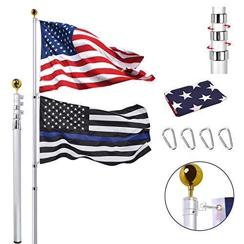 30FT Telescopic Flag Pole Kit