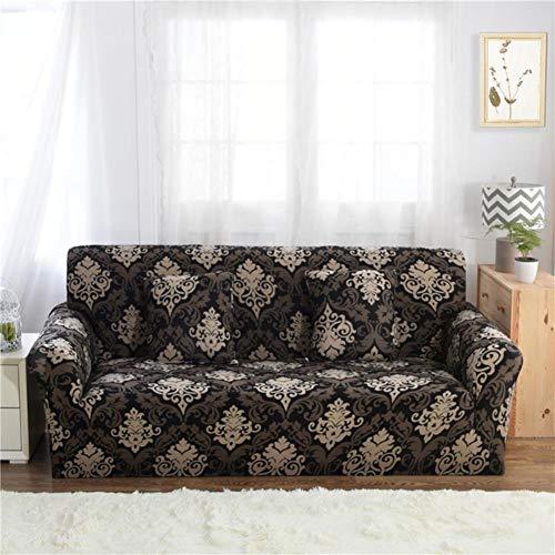 FGVBWE4R 1/2/3/4 Sitzer-Sofa-Abdeckungen für Wohnzimmer-Blumen-Schonbezug-Möbel-Schutz-Ausdehnungs-elastische Abdeckungen Dreisitzer-Sofa, Farbe 19,1-Seater 90-140cm