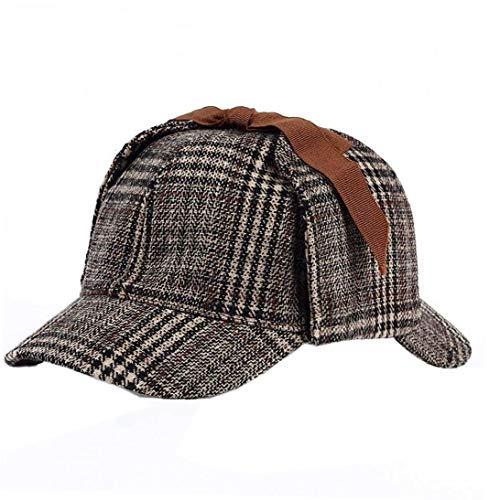 Sherlock Holmes Gorro De Cazador Sombrero Detective Boinas Cap Clásica De Lechuga Juego para Adultos Y Niños