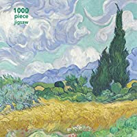 1000-Piece Vincent van Gogh: Wheatfield with Cypress Adult Jigsaw by Flame Tree Studio