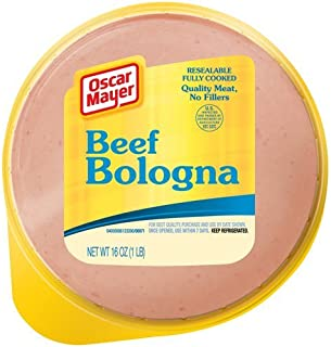 OSCAR MAYER LUNCH MEAT COLD CUTS BEEF BOLOGNA 16 OZ PACK OF 2