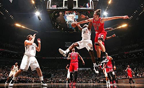 FGHJKOO 1000 Piezas,para Adultos,Máxima Calidad de impresión,Juguetes clásicos Rompecabezas, DIY Rompecabezas para Adultos - Maestros de Baloncesto NBA-Sports;(H-50 cm x M/B-75 cm)